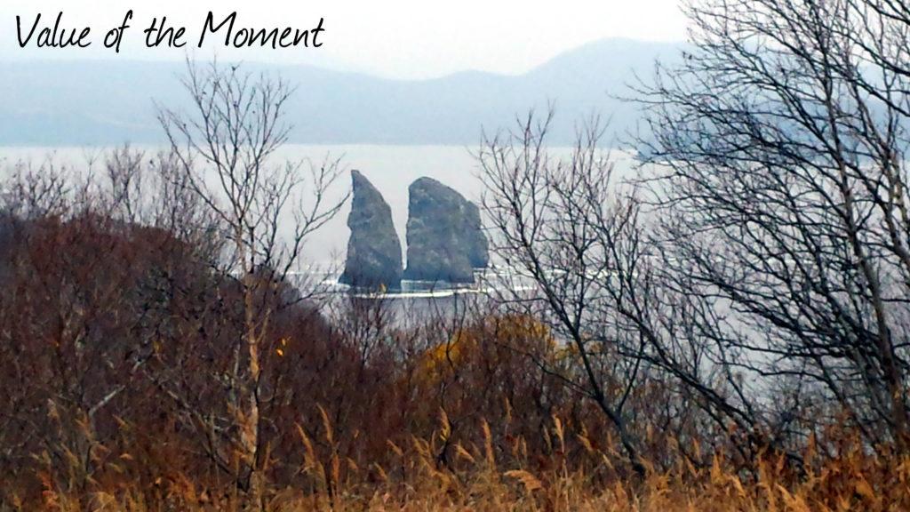 "Rocks ""Three Brothers"", Russia, Kamchatka, Petropavlovsk Kamchatskiy"