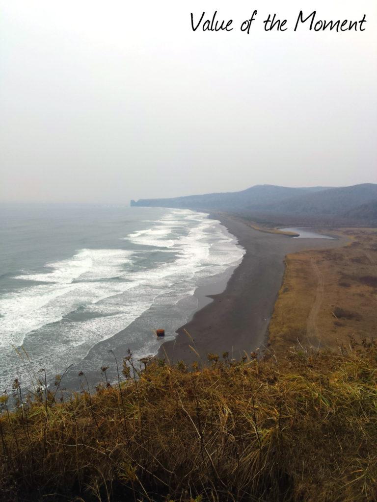 The view from cliff, Russia, Kamchatka, Petropavlovsk Kamchatskiy