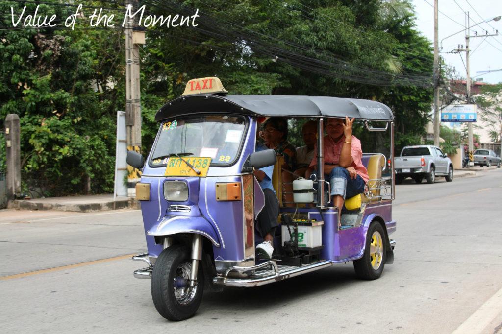 Tuk-tuk taxi, Thailand, Thai
